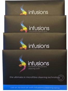infusions Microfibre Optical Lens Cleaning Cloth x24 Pack