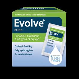 Evolve Pure EyeLid Wipes